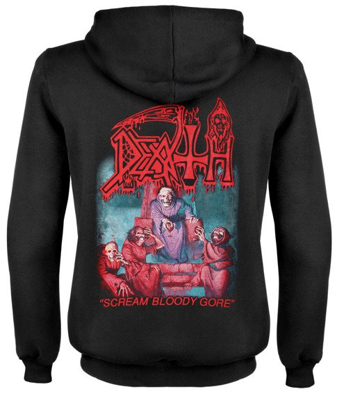 bluza DEATH - SCREAM BLOODY GORE rozpinana, z kapturem