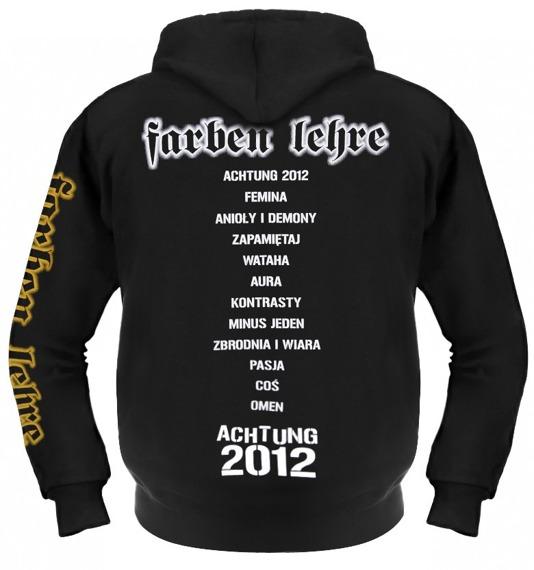 bluza FARBEN LEHRE - ACHTUNG 2012 czarna, z kapturem