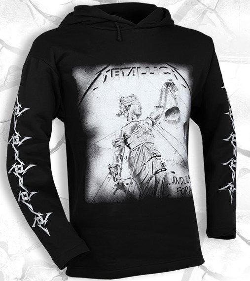 bluza METALLICA - AND JUSTICE FOR ALL czarna, z kapturem
