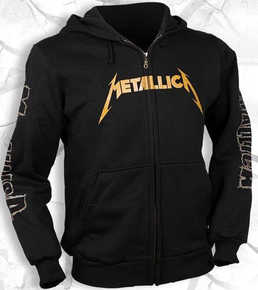 bluza METALLICA - LOGO czarna, rozpinana z kapturem