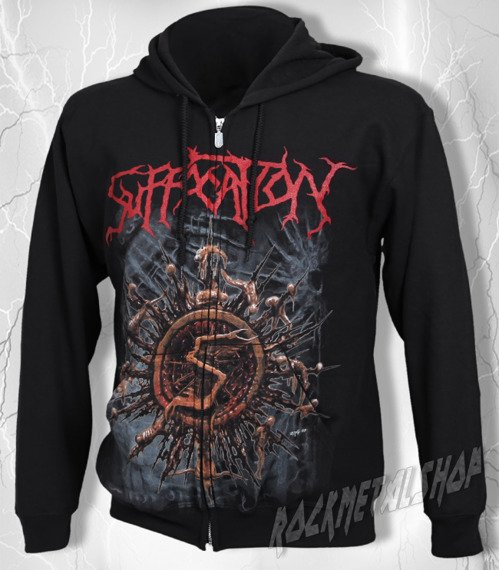 bluza SUFFOCATION - LET THE TRUTH BE BLED, rozpinana z kapturem