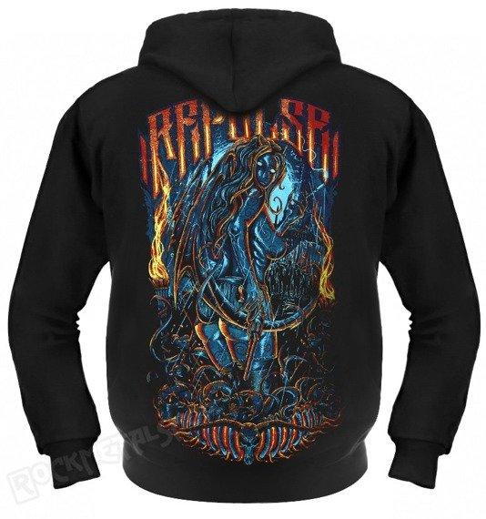 bluza THE DEVIL REJECT czarna, z kapturem