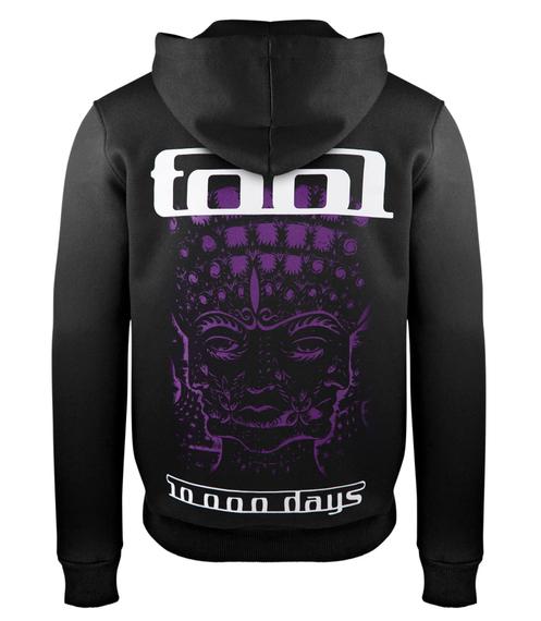 bluza TOOL - 10 000 DAYS czarna, z kapturem