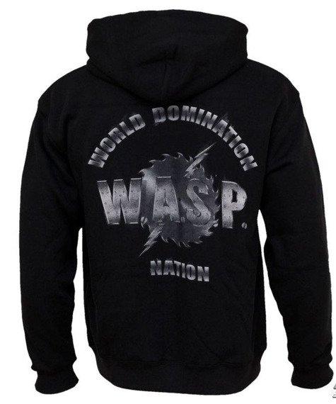 bluza W.A.S.P - WORLD DOMINATION, rozpinana z kapturem