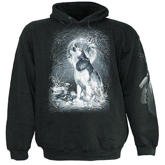 bluza WHITE WOLF czarna, z kapturem