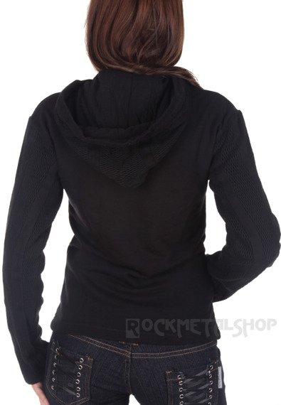 bluza damska KANGAROO czarna, z kapturem