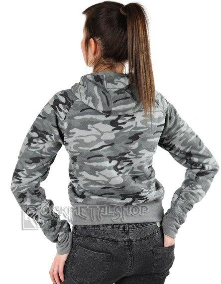 bluza damska na suwak MORO GREY