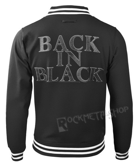bluza/kurtka AC/DC - BACK IN BLACK, rozpinana