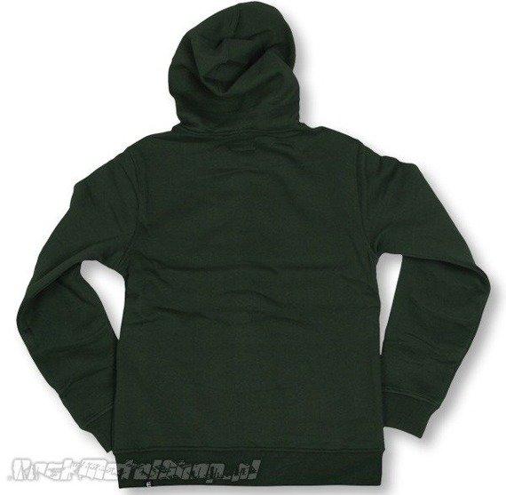 bluza na suwak ETNIES - LOGO FILL (FULL ZIP) (DARK GREEN) 09'