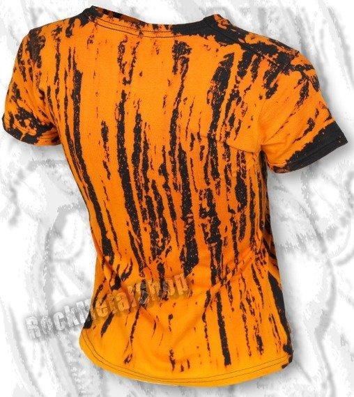 bluzka damska BARWIONA pomarańczowa