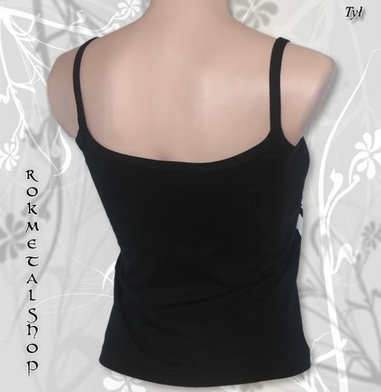 bluzka damska DISTURBED - LOGO na ramiączka