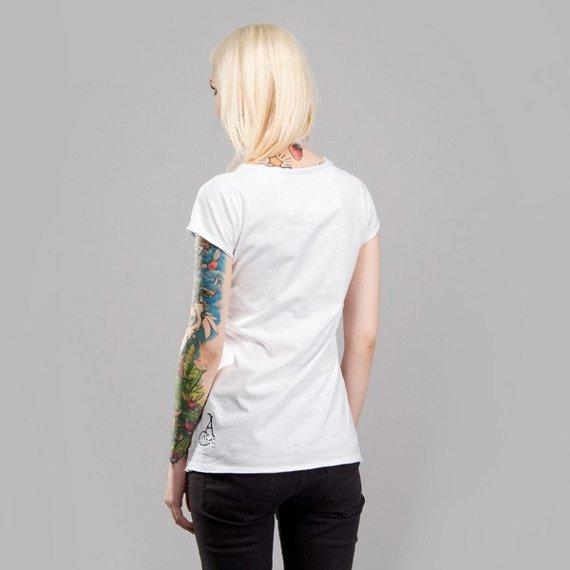 bluzka damska GORILLAZ - PLASTIC BEACH biała