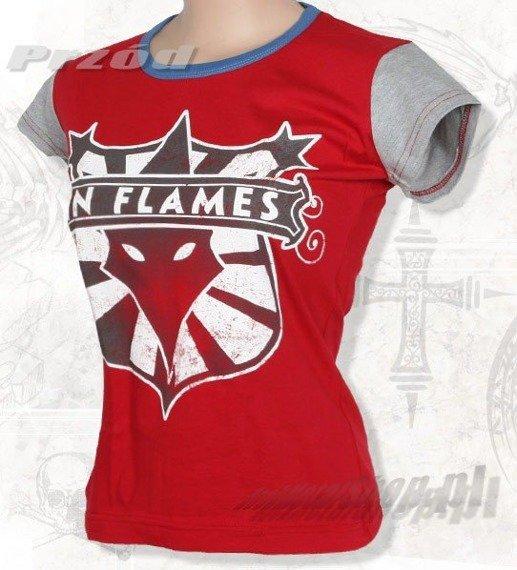 bluzka damska IN FLAMES czerwona
