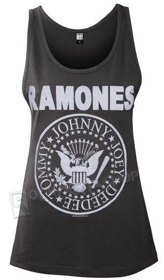 bluzka damska RAMONES - LOGO, na ramiączkach