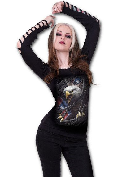 bluzka damska REBEL EAGLE długi rękaw