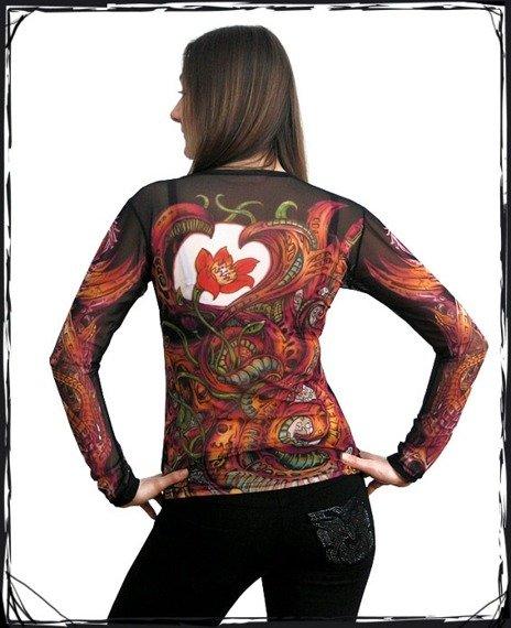 bluzka damska RÓŻA CIEMNA