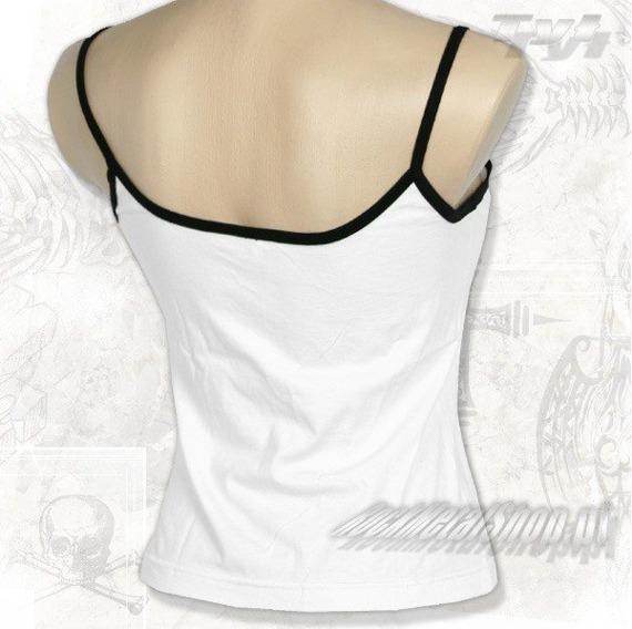 bluzka damska TARJA biała, na ramiączkach