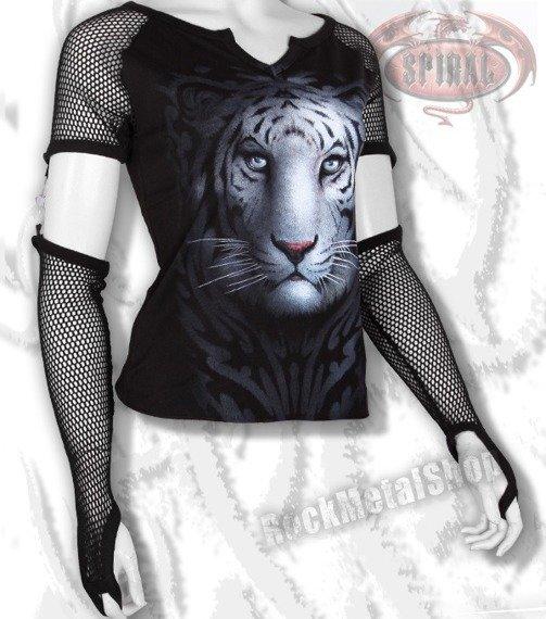 bluzka damska WHITE TIGER  długi rękaw