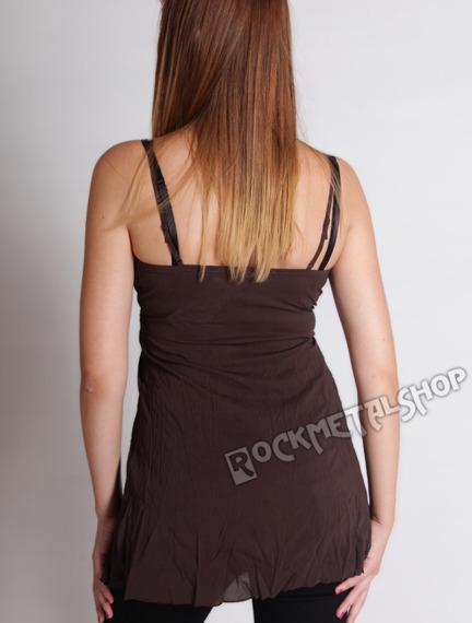 bluzka na ramiączka MARIAH brązowa