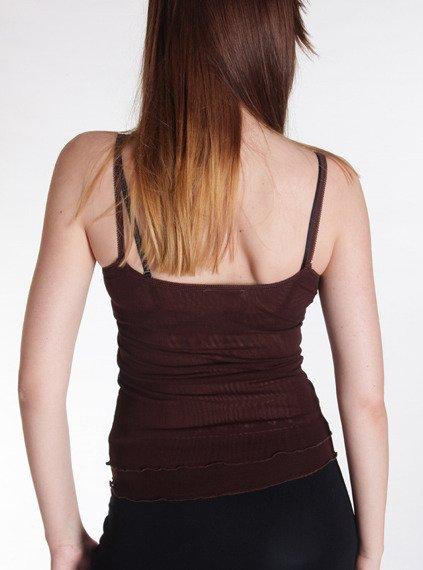 bluzka na ramiączka OLIVIA brązowa