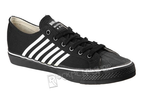 buty DRAVEN - Duane Peters CANVAS LOW black/white (MCDP01)