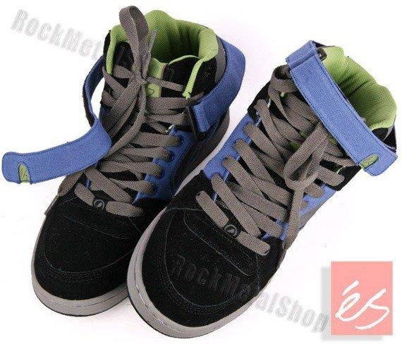 buty ES - ACCEL HI (BLACK/BLUE/GREY)