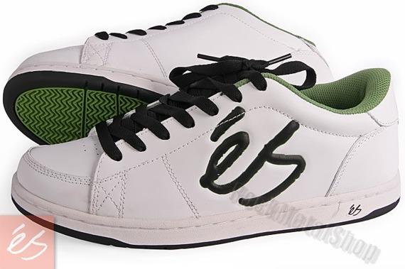 buty  ES - SHELTON (WHITE/BLACK/GREEN)