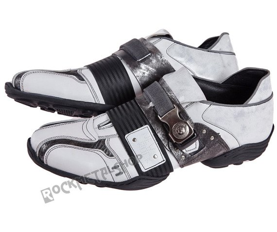 buty NEW ROCK   Abs negro, napa blanco, box plane, charol stuco blanco, carbono negro [8147-S3]