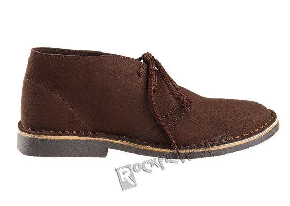 buty zamszowe ALTERCORE brązowe 2-dziurkowe (RONY BROWN)