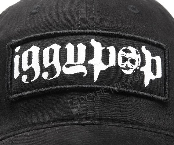 czapka IGGY POP - Rect Logo Black Flex Cap