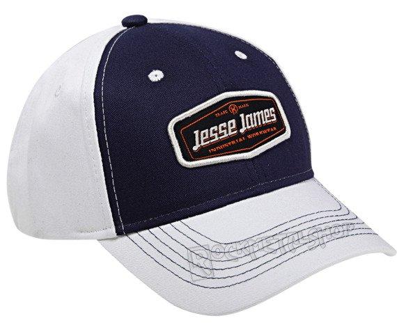 czapka JESSE JAMES - LOGO granatowo-biała