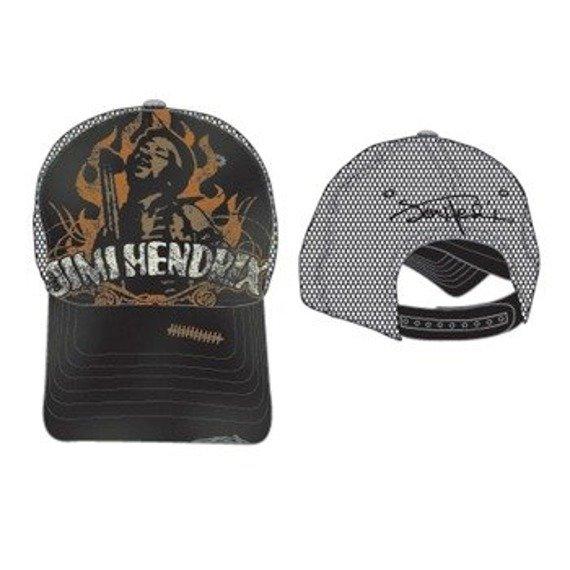 czapka JIMI HENDRIX - Black W/ Logo Trucker Cap