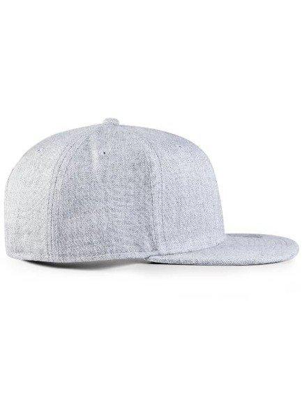 czapka MASTERDIS - MONEYCLIP SNAPBACK CAP ht. grey