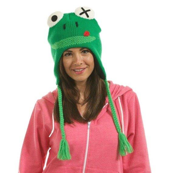 czapka zimowa FREAKS AND FRIENDS - GREEN LAPLANDER FROG