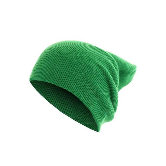 czapka zimowa MASTERDIS - BEANIE BASIC FLAP LONG kelly