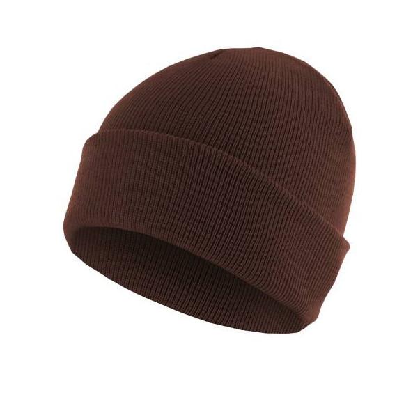 czapka zimowa MASTERDIS - BEANIE BASIC FLAP maroon