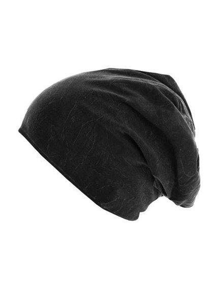 czapka zimowa MASTERDIS - STONEWASHED JERSEY BLACK