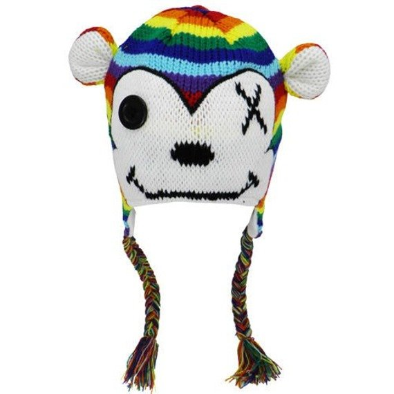 czapka zimowa i rękawiczki FREAKS AND FRIENDS - RAINBOW MONKEY SET