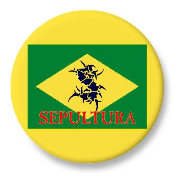 duży kapsel SEPULTURA - BRAZIL