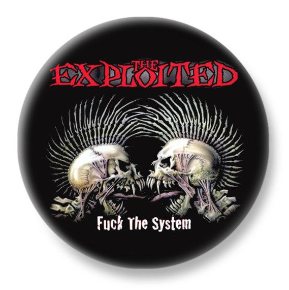 duży kapsel THE EXPLOITED - FUCK THE SYSTEM