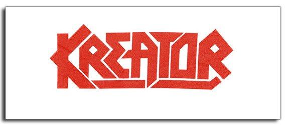 ekran biały KREATOR - RED LOGO