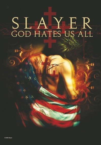flaga SLAYER - GOD HATES US ALL