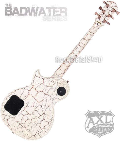 gitara elektryczna AXL BADWATER 1216 / CRACKLE BROWN WHITE