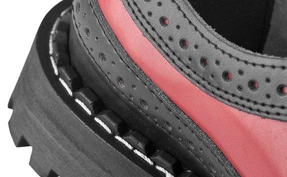 glany STEEL - BLACK / RED (4 dziurki)