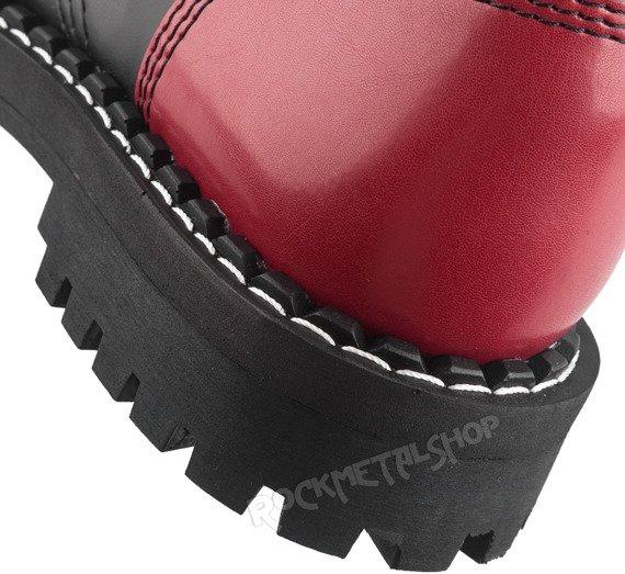 glany STEEL - FULL RED (nos+pięta) / BLACK (10-dziurkowe)