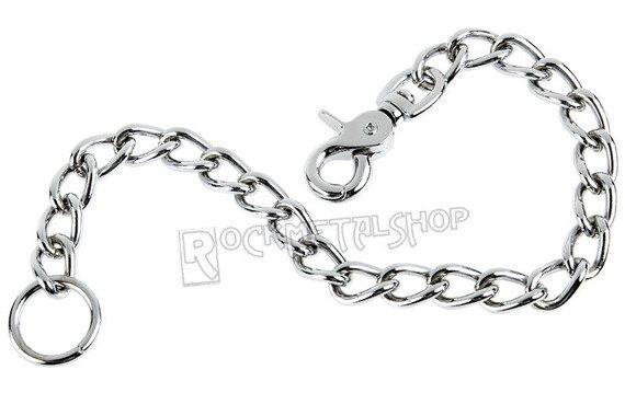 gruby łańcuch do kluczy/portfela (40 cm) z karabińczykiem NR 2