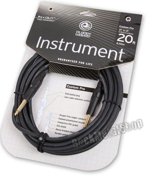 kabel gitarowy 6,10 m PLANET WAVES CUSTOM PRO jack prosty/prosty (PW-CPG-20)