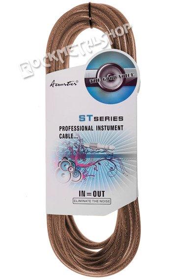 kabel gitarowy ACOUSTICS 3m jack prosty-prosty / brązowy