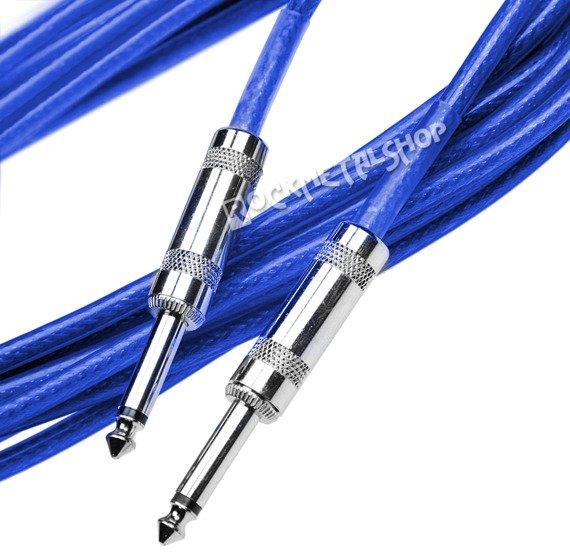 kabel gitarowy ACOUSTICS 3m jack prosty-prosty / niebieski
