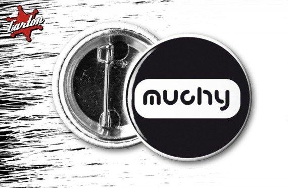 kapsel MUCHY - LOGO czarno-biały